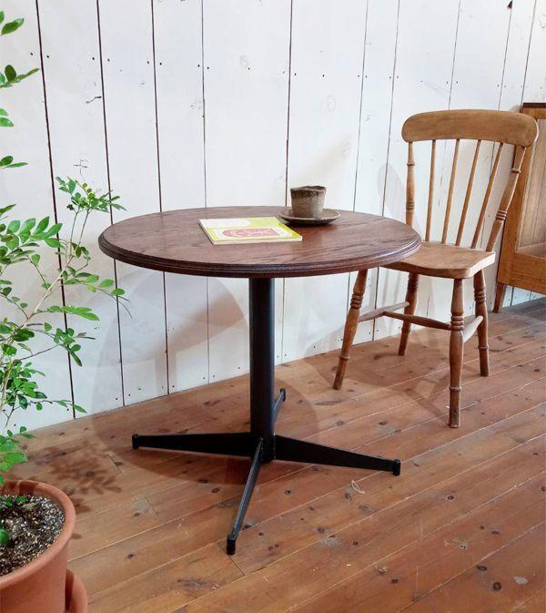 ラウンドテーブル,丸テーブル,アイアンレッグ