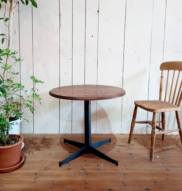 70cm,80cm,ラウンドテーブル,鉄脚
