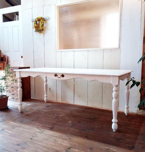 アンティークダイニングテーブル,ターンドレッグ