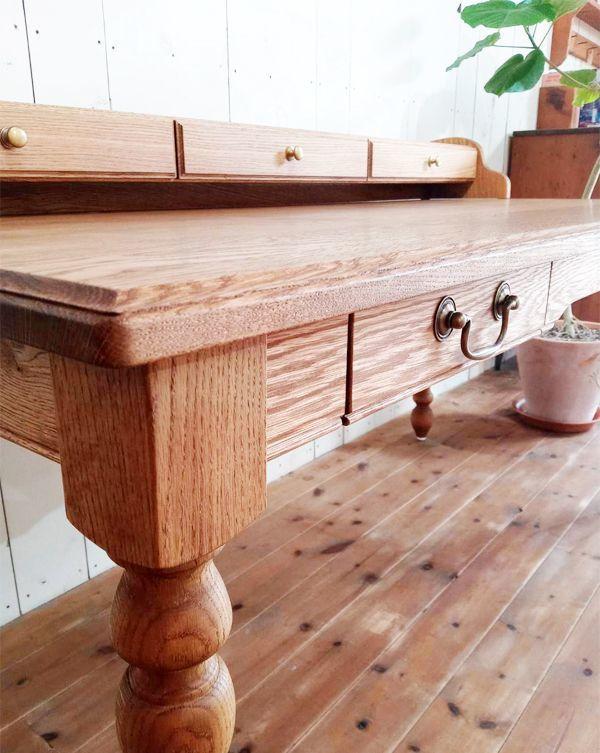 高級木材,ホワイトオーク材,オーダーデスク