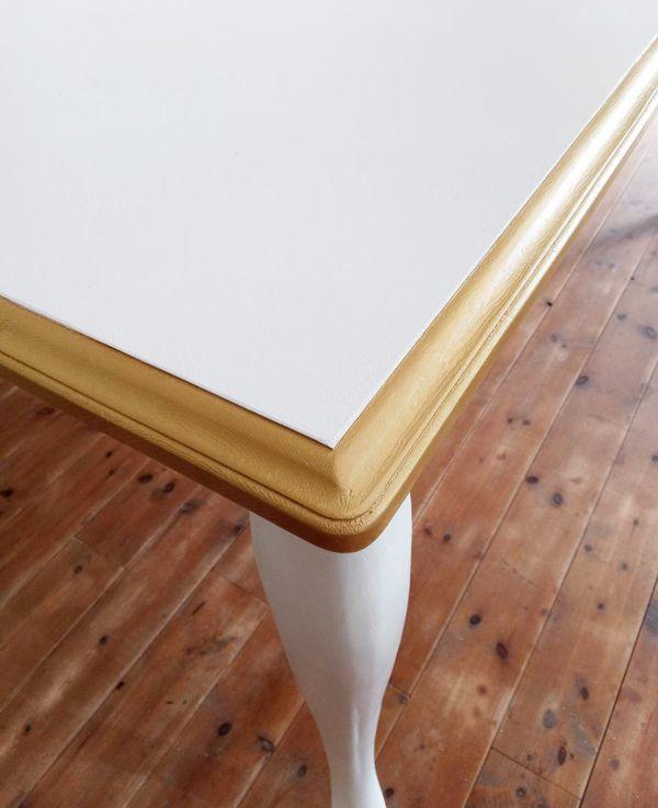縁をゴールド,ダイニングテーブル,アンティーク調