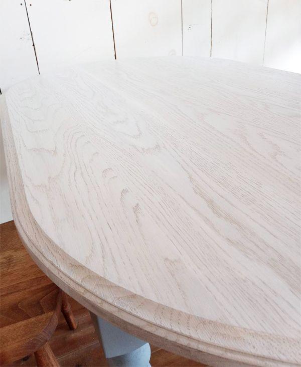 ホワイトオークオーバルテーブル