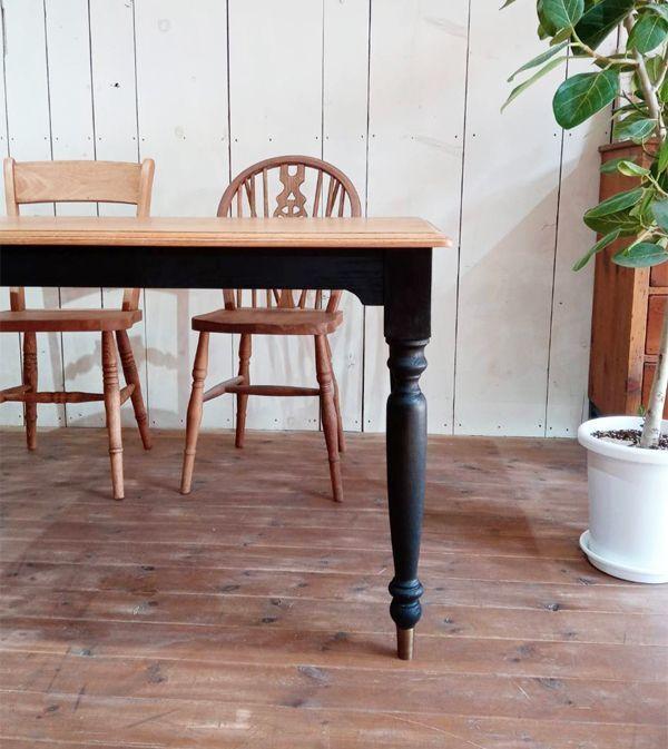 シルエットの綺麗なろくろ脚(ターンドレッグ)テーブル