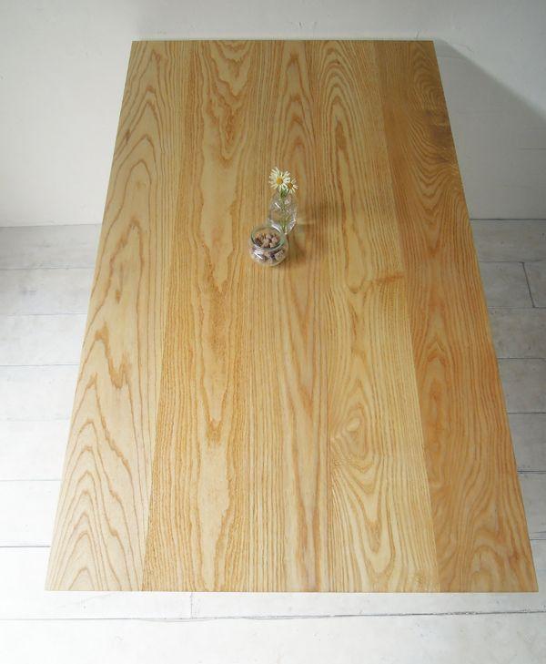 ホワイトアッシュダイニングテーブル、鉄脚