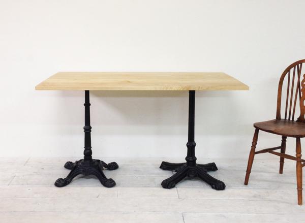店舗什器おすすめ鉄脚テーブル、アイアンレッグダイニングテーブル