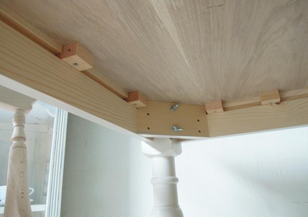 駒止めダイニングテーブルは大阪の無垢家具工房GF