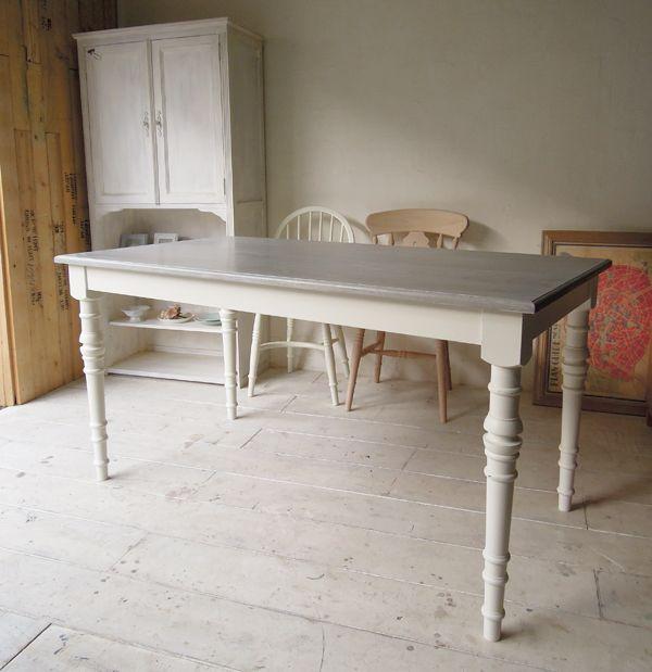 グレーホワイトダイニングテーブル