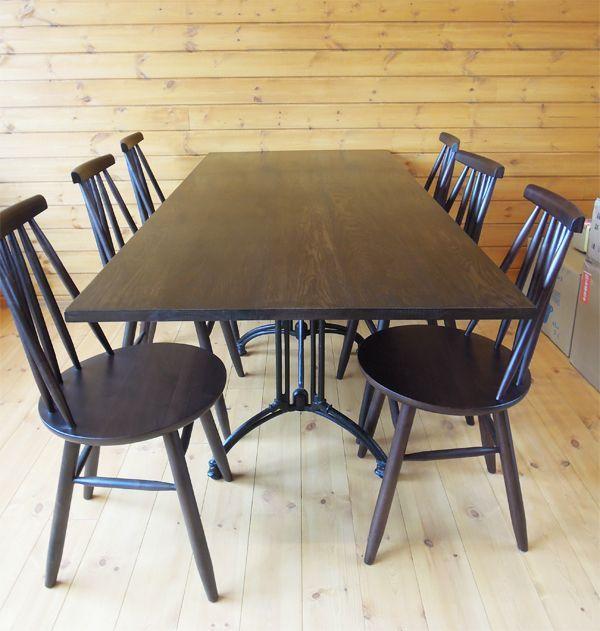 6人掛け鉄脚テーブル,カフェ