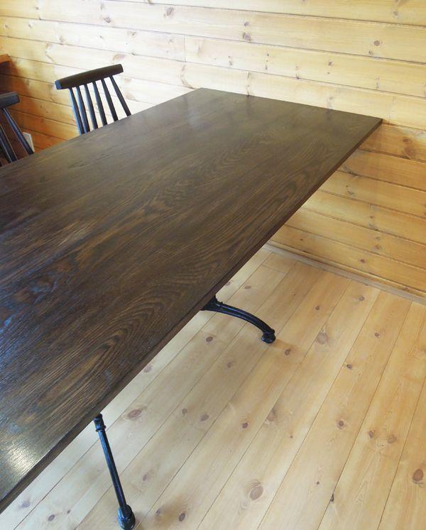 ホワイトーク無垢板テーブル