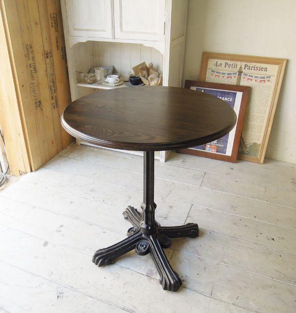 丸天板鉄脚テーブル