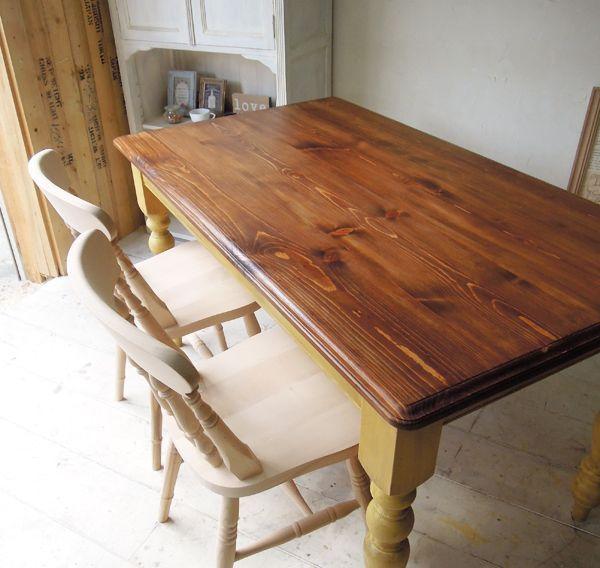 パイン無粥天板のダイニングテーブル