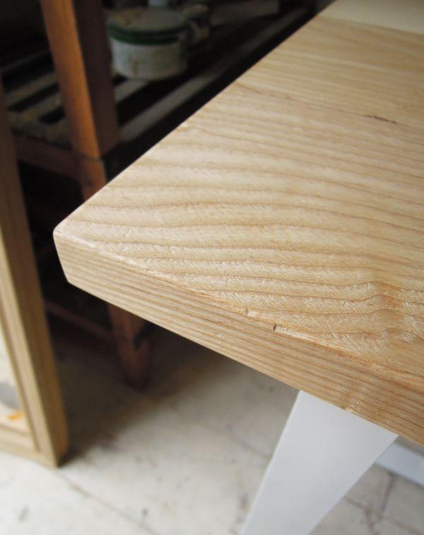 タモ材テーブル
