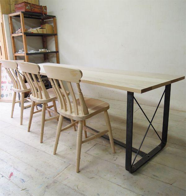 鉄脚ダイニングテーブル