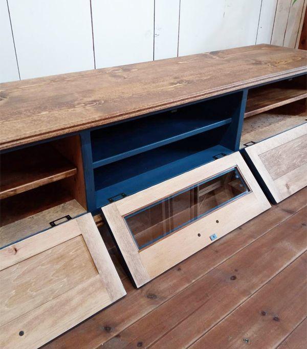 パイン家具,ブルーグレー