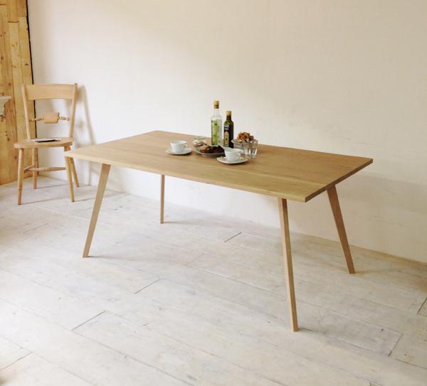 北欧家具伸長式ダイニングテーブル、ホワイトオーク製
