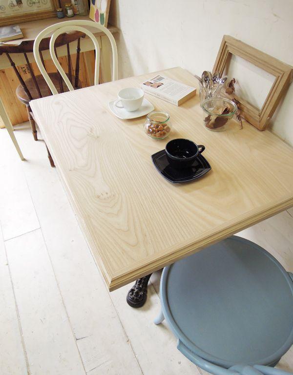 ホワイトアッシュ無垢材テーブル