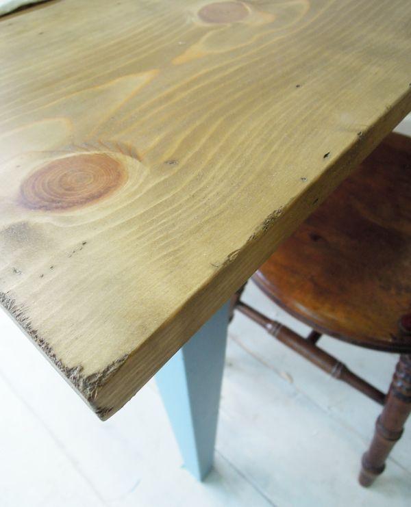 アンティーク調ダイニングテーブル、エイジング加工