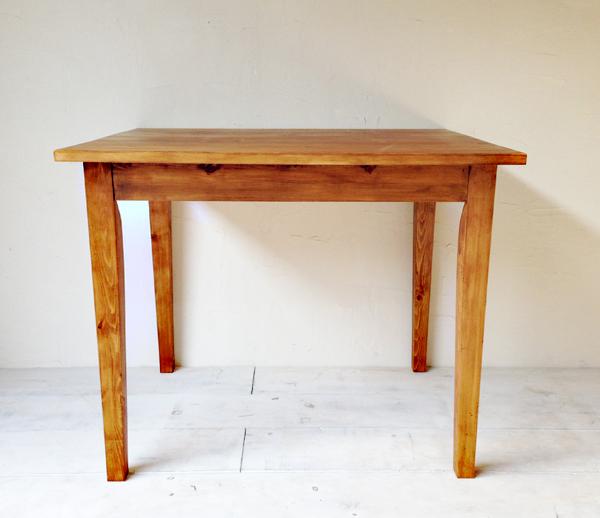 2人掛けダイニングテーブル、パイン材